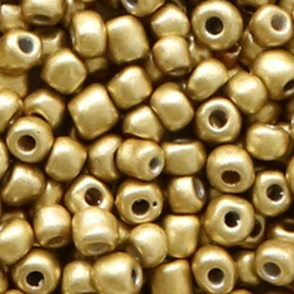 Rocailles 4 mm champagne metallic