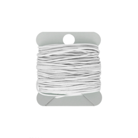 Macramé koord 0.8 mm white