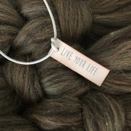 Pakket macramé veer wol (50 x 80 cm)