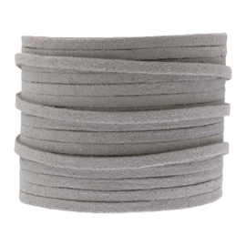 Faux suede light grey 3 mm