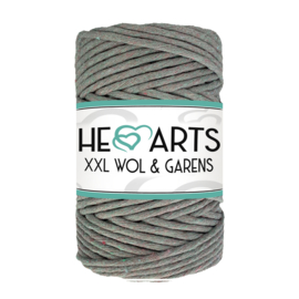 Hearts single twist 4.5 mm taupe/grey rainbow (100m)