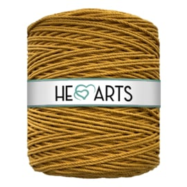 Hearts triple twist 4 mm mustard