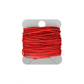 Macramé koord 0.8 mm red