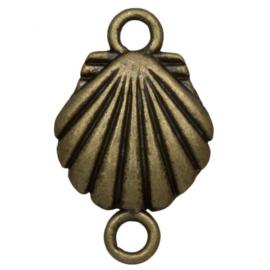 Tussenstuk 2 ogen shell brons