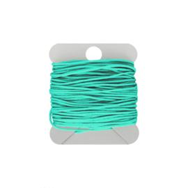 Macramé koord 0.8 turquoise green