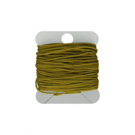 Macramé koord 0.8  green mustard