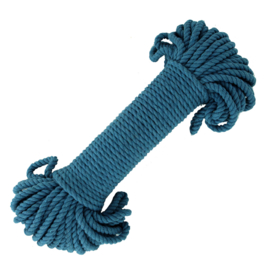 Macramé katoen ocean blue 5 mm