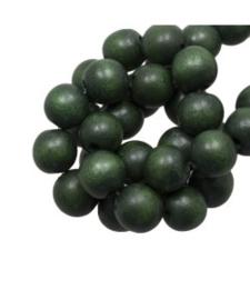 Houten kraal pine green 12 mm