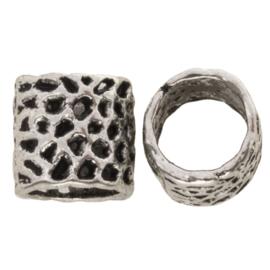 Metalen kraal Panther antiek zilver