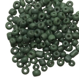Rocailles 4 mm marble spinach