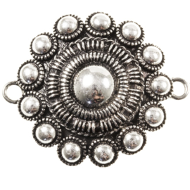 Antiek zilver met 2 ogen 44 mm