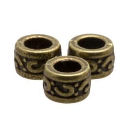 Metalen kraal sier brons
