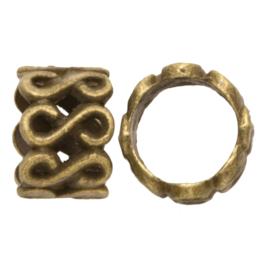 Metalen kraal Infinity brons