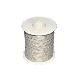 Koord (gewaxt) licht grijs 1 mm