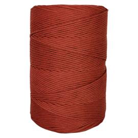 Hearts single twist 4,5 mm brick red (500m)