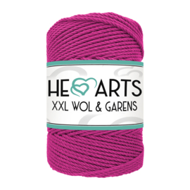 Hearts triple twist 3 mm magenta
