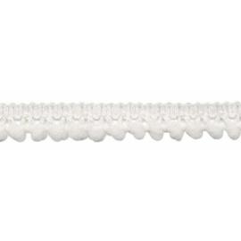 mini pompomband gebroken wit 10 mm