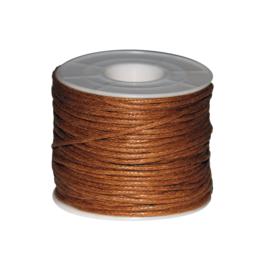 Koord (gewaxt) bruin 1,5 mm