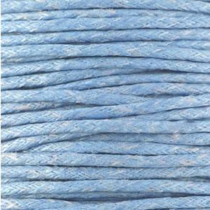 Koord (gewaxt) lichtblauw 1,5 mm