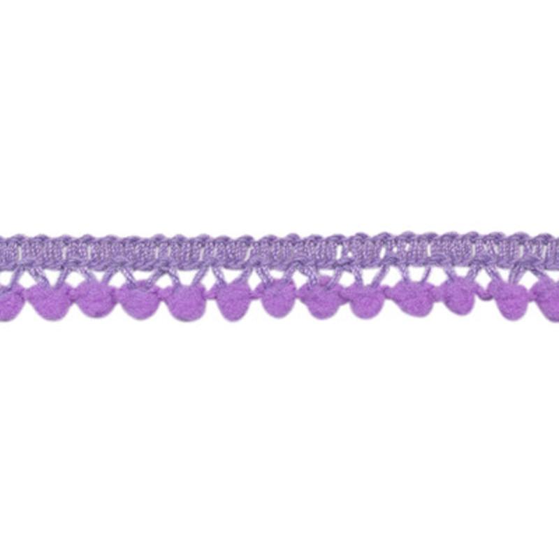 mini pompomband lila 10 mm