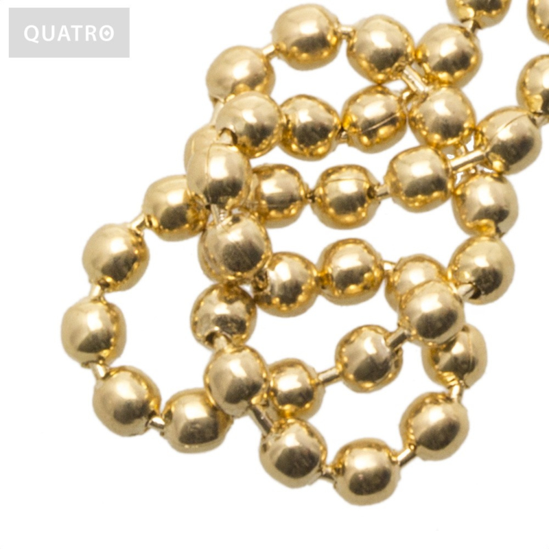 Bolletjesketting 2 mm goud
