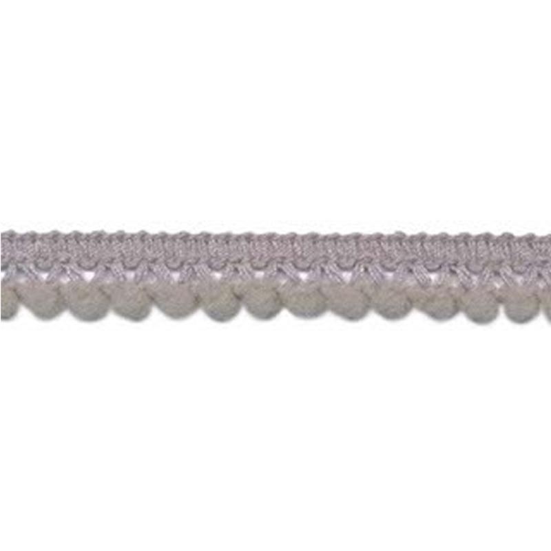 mini pompomband grijs 10 mm