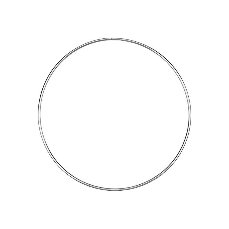Macramé ring metaal 8 cm