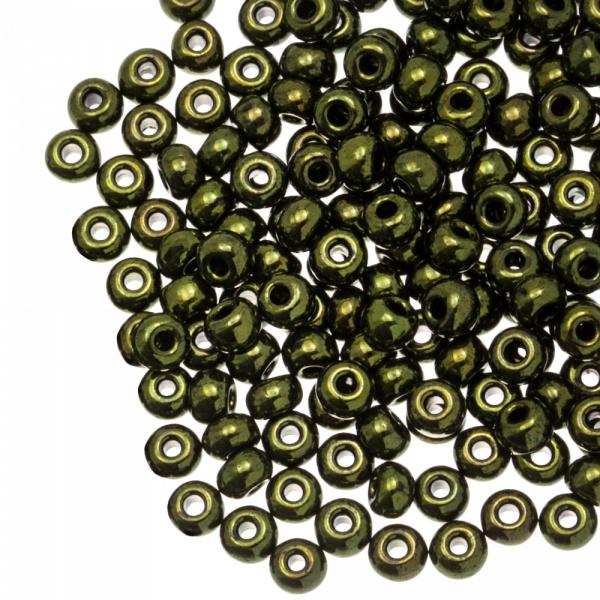 Rocailles 4 mm metallic forest