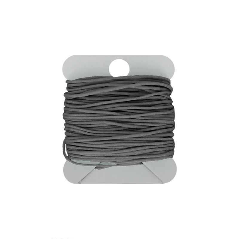 Macramé koord 0.8 mm grey