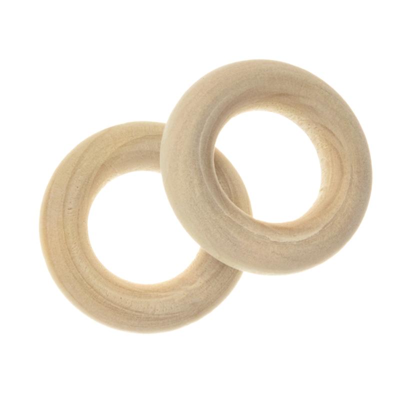 Blanke houten ring 20 mm