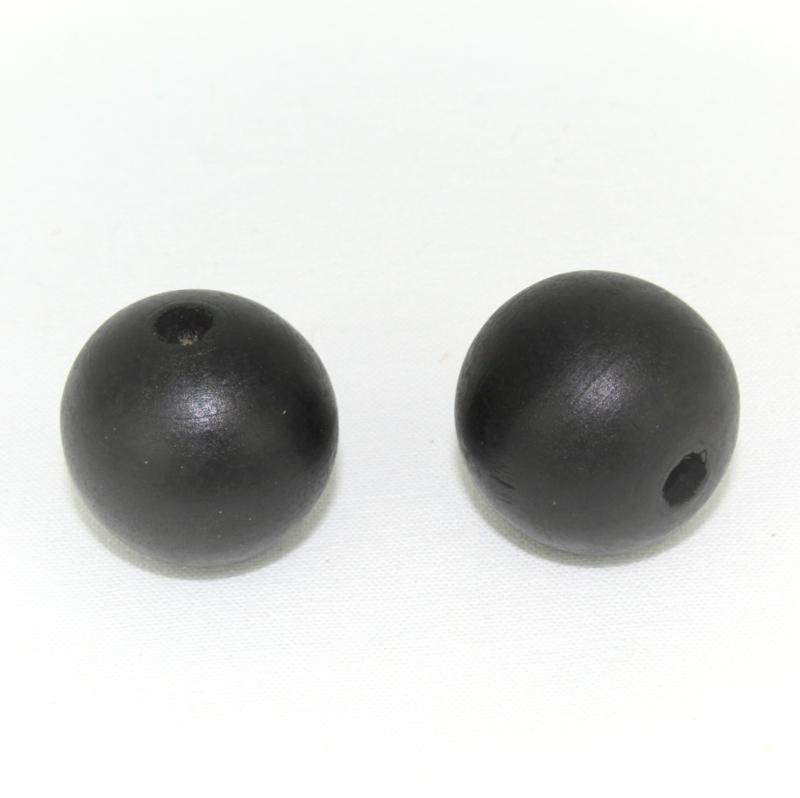 Houten kraal zwart 25 mm