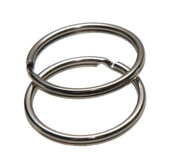 Zilveren sleutelring 25 mm