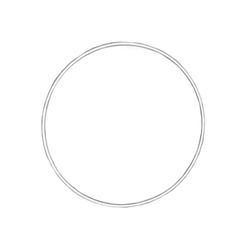 Macramé ring wit 25 cm