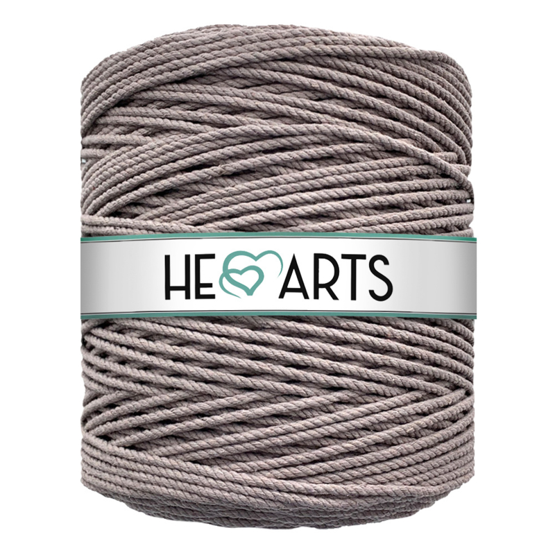 Hearts triple twist 4 mm taupe