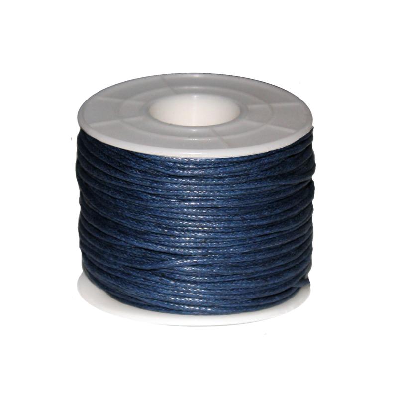 Koord (gewaxt) blauw 1,5 mm