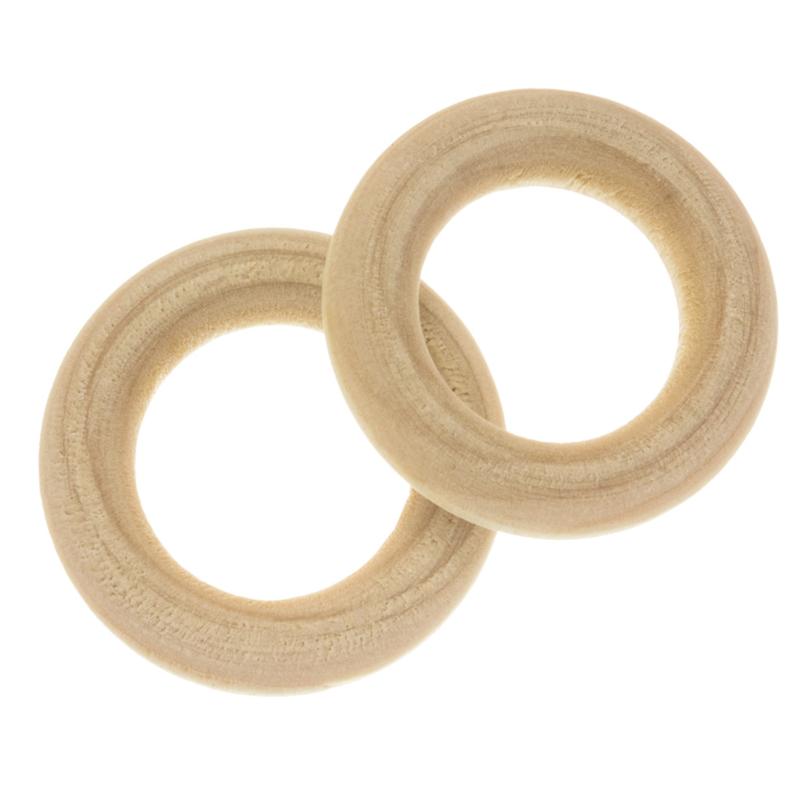 Blanke houten ring 30 mm