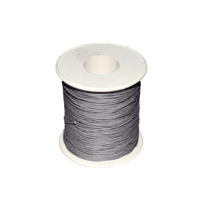 Koord (gewaxt) grijs 1 mm