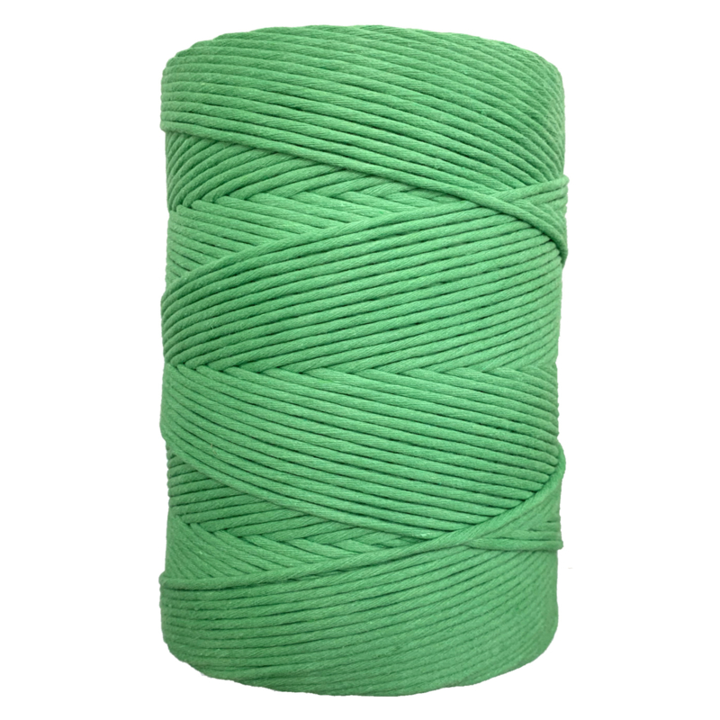 Hearts single twist 4,5 mm lettuce green (500m)