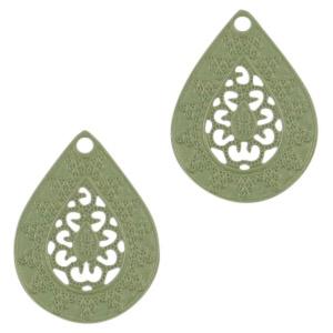 Hanger bohemian druppel pistache