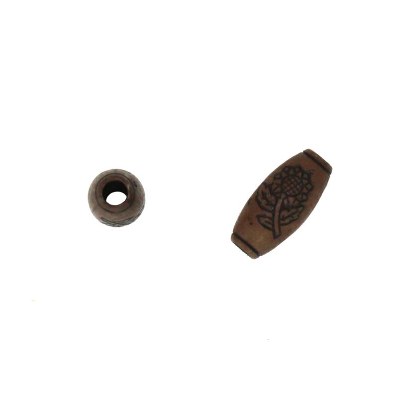 houten kraal donker bruin