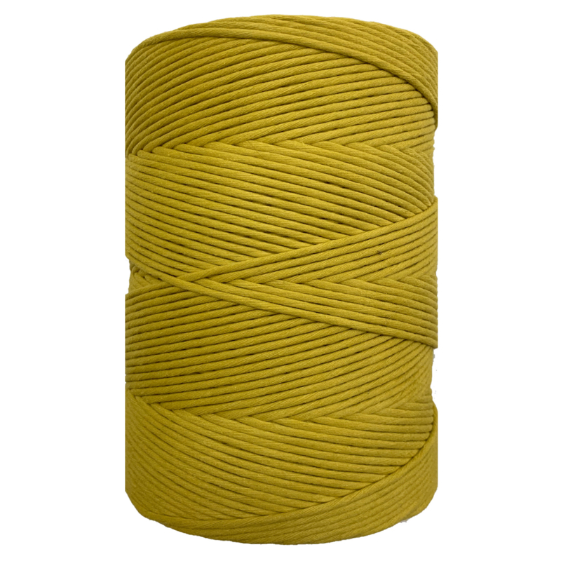 Hearts single twist 4,5 mm mustard green (500m)