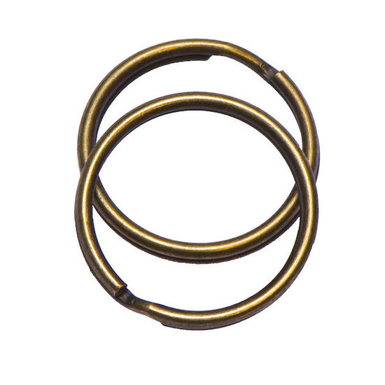 Bronzen sleutelring 25 mm