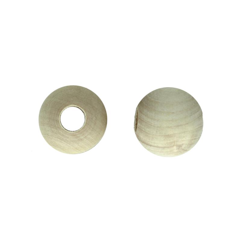 Houten kraal groot gat 30 mm