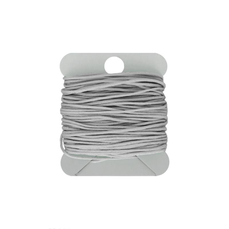 Macramé koord 0.8 mm silvergrey