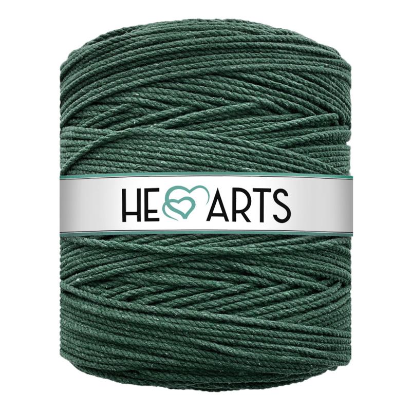 Hearts triple twist 4 mm dark green