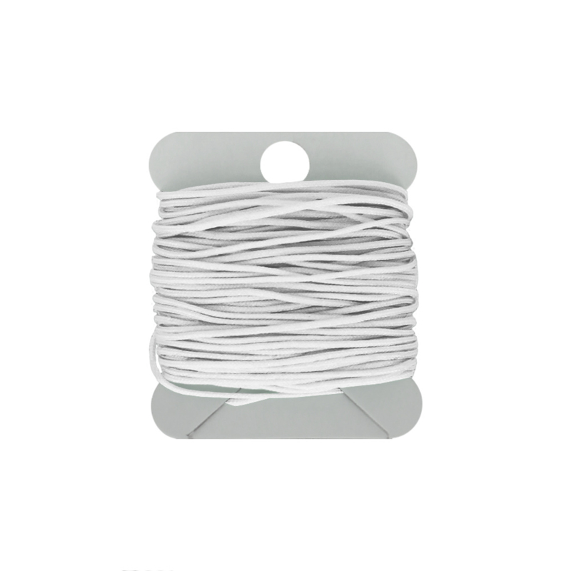 Macramé koord 0.8 mm white
