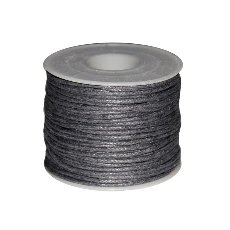 Koord (gewaxt) grijs 1,5 mm
