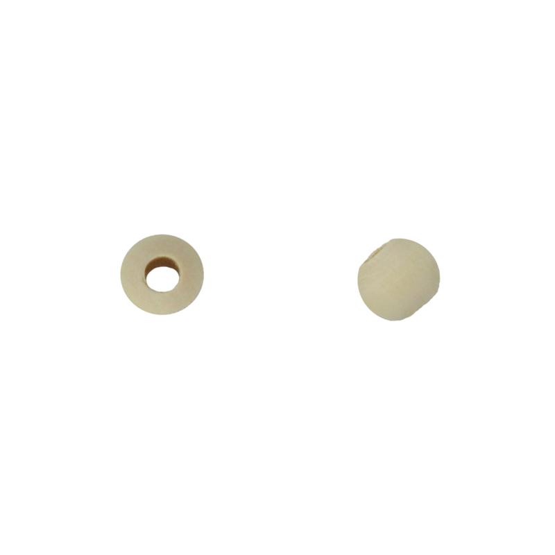 houten kraal 12 mm(groot gat)