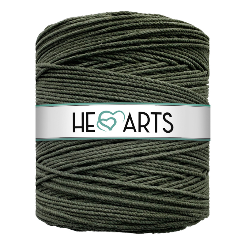 Hearts triple twist 4 mm dark olive
