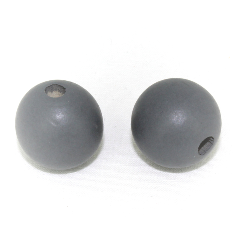 Houten kraal grijs 20 mm